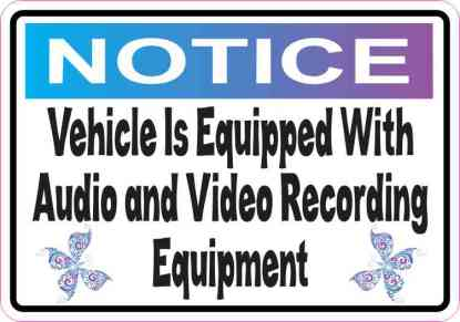 Butterfly Notice Audio and Video Sticker