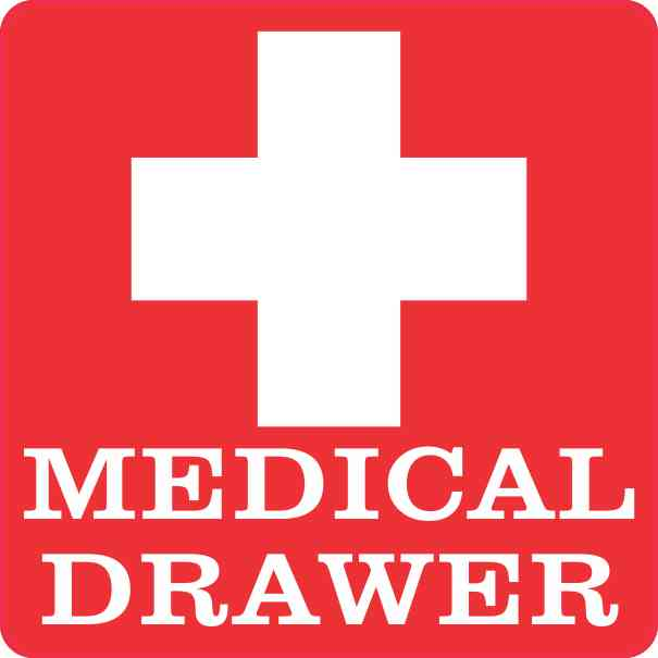 Medical Drawer Sticker
