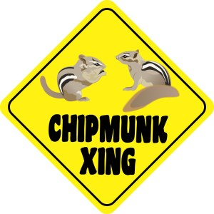 Chipmunk Crossing Sticker