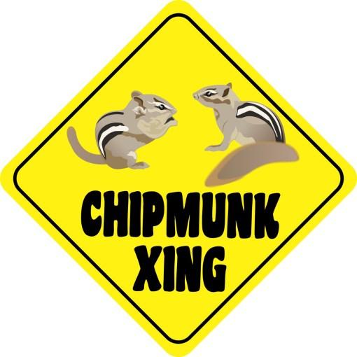 Chipmunk Crossing Sticker