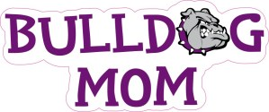 Purple Bulldog Mom Sticker