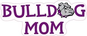 Purple Bulldog Mom Sticker