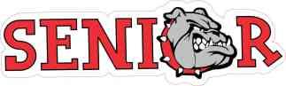 Red Bulldog Senior Sticker