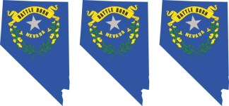 Nevada Flag Stickers
