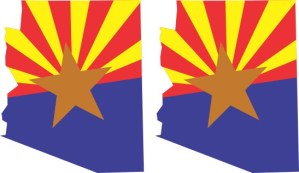 Arizona Flag Stickers