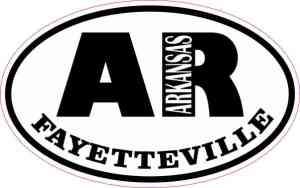 Oval AR Fayetteville Arkansas Sticker