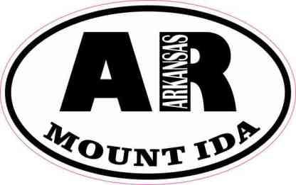 Oval AR Mount Ida Arkansas Sticker