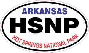 Oval Hot Springs National Park Sticker