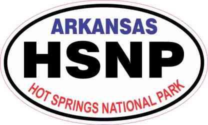 Oval Hot Springs National Park Sticker