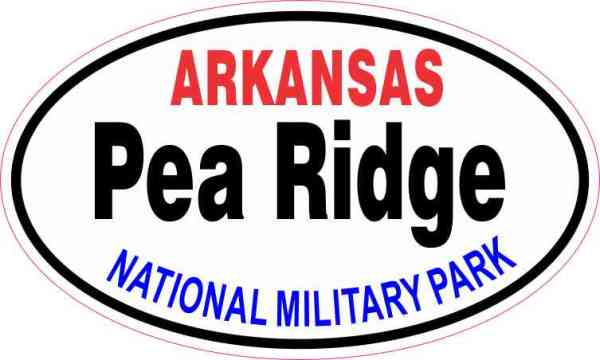 Oval Pea Ridge National Military Park Sticker