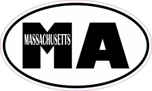 Oval Massachusetts Sticker