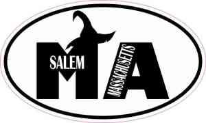 Witch Hat Oval Salem Massachusetts Sticker