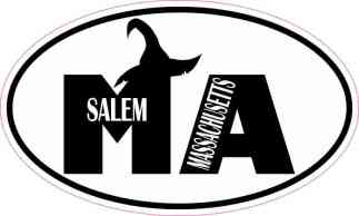 Witch Hat Oval Salem Massachusetts Sticker