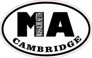 Oval MA Cambridge Massachusetts Sticker