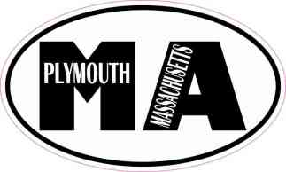Oval MA Plymouth Massachusetts Sticker
