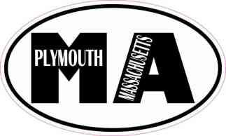 Oval MA Plymouth Massachusetts Sticker