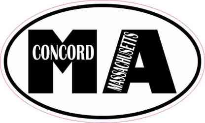 Oval MA Concord Massachusetts Sticker