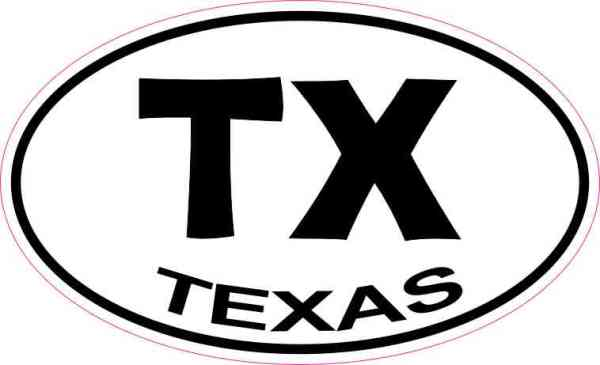 Oval Texas Sticker