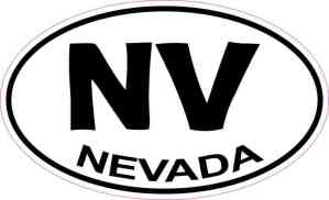 Oval Nevada Sticker