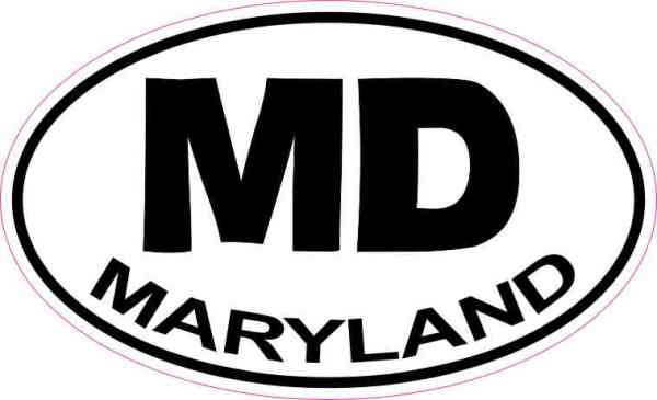 Oval Maryland Sticker