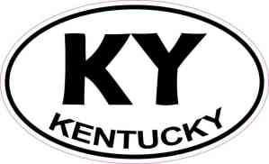 Oval Kentucky Sticker