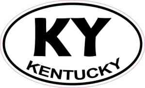 Oval Kentucky Sticker