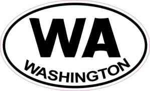 Oval Washington Sticker