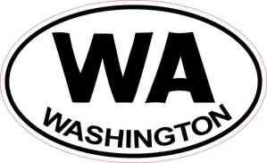 Oval Washington Sticker