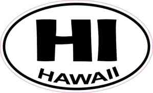 Oval Hawaii Sticker