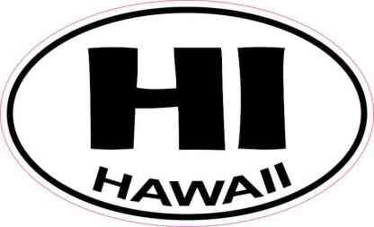 Oval Hawaii Sticker