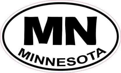 Oval MN Minnesota Sticker
