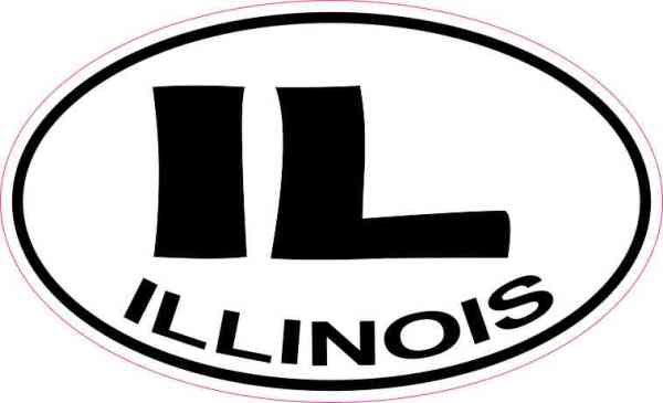 Oval IL Illinois Sticker