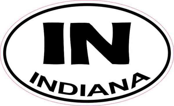 Oval IN Indiana Sticker