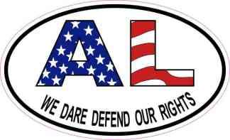 Oval AL We Dare Defend Our Rights Sticker