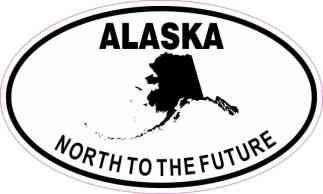 Oval Alaska North to the Future Sticker