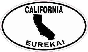 Oval California Eureka! Sticker