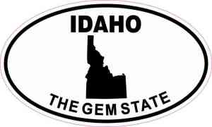 Oval Idaho the Gem State Sticker
