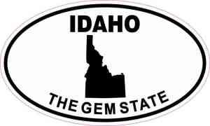 Oval Idaho the Gem State Sticker