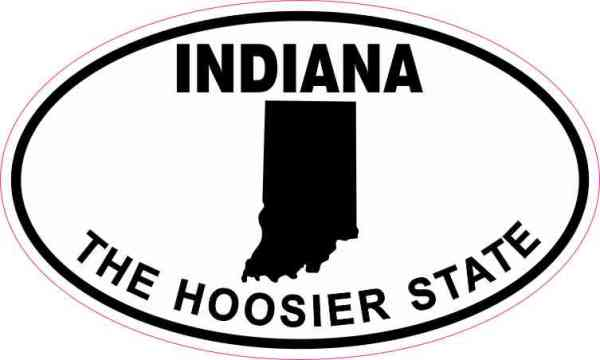 Oval Indiana the Hoosier State Sticker