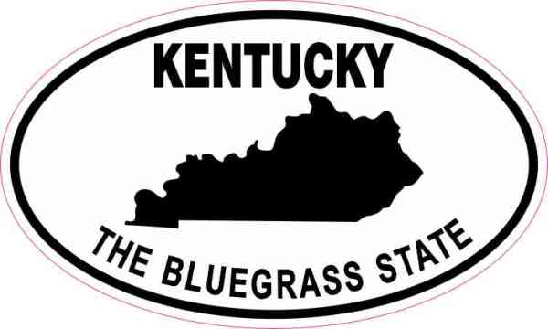 Oval Kentucky the Bluegrass State Sticker
