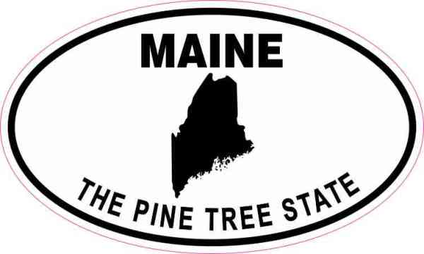 Oval Maine the Pine Tree State Sticker