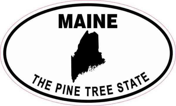 Oval Maine the Pine Tree State Sticker