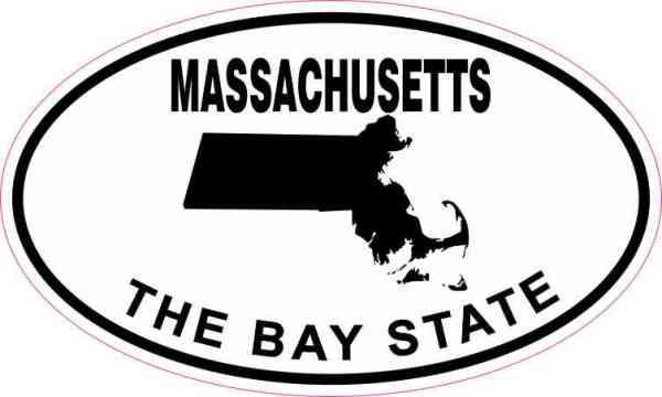 Oval Massachusetts the Bay State Sticker