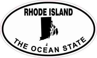 Oval Rhode Island the Ocean State Sticker