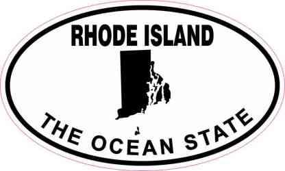 Oval Rhode Island the Ocean State Sticker