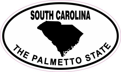 Oval South Carolina the Palmetto State Sticker