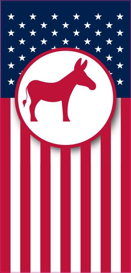 Democrat Flag Banner Magnet