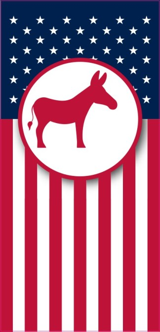 Democrat Flag Banner Sticker