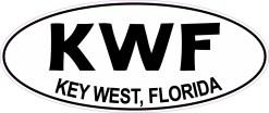 Oval KWF Key West Florida Sticker