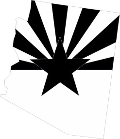 Black and White Arizona Sticker